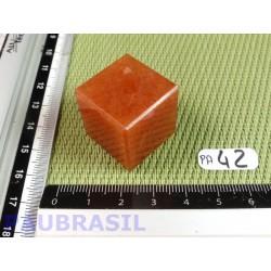 Cube poli en Aventurine orange - Peach aventurine 33gr 23mm