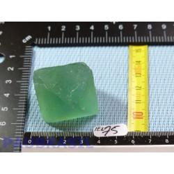 Fluorine Fluorite Verte en Pierre Brute Octaedre 61gr