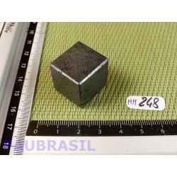 Cube poli en Hématite Q Extra 42g 20mm