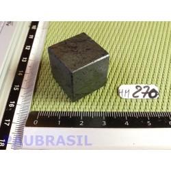 Cube poli en Hématite Q Extra 43g 21mm
