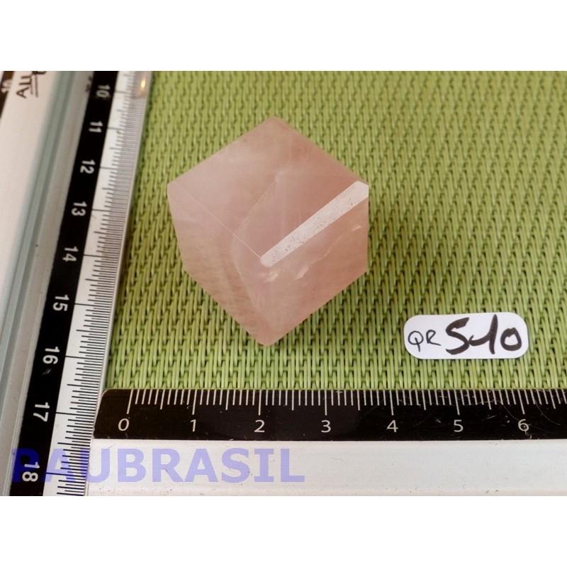 Cube poli en Quartz Rose Q Extra Brésil 31g 23mm
