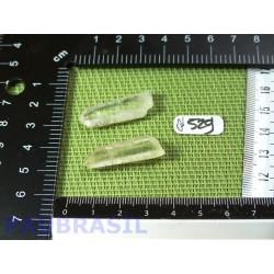 2 pointes en cristal de roche quartz laser pour lithothérapie 8gr