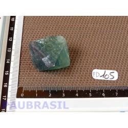 Fluorine Fluorite Multicolore en Pierre Brute Octaèdre 26g