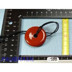 Pi donut pendentif en Jaspe Rouge de 4cm