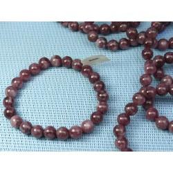 Bracelet Lépidolite en perles de 8mm