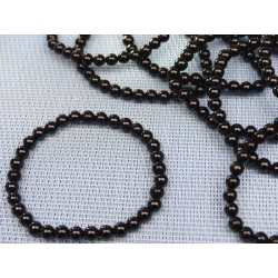 Bracelet Spinelle noir en perles de 6mm