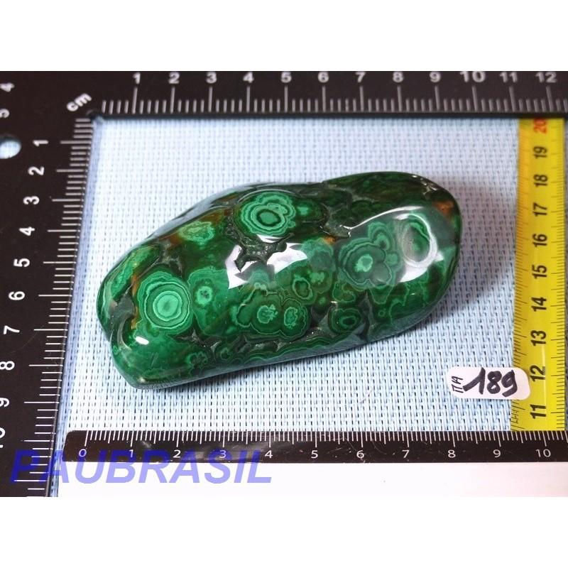 Malachite une face polie 167gr Q Extra