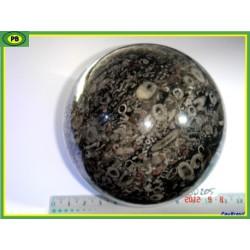 sphère en Jaspe à Fossiles de 1217 gr 9.4 de dia