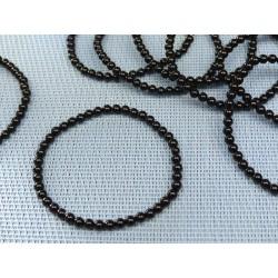 Bracelet Spinelle noir en perles de 4mm