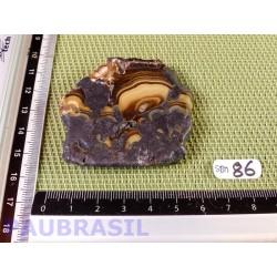 Sphalerite sur Marcassite - Schalenblende tranche polie Q Extra 99gr