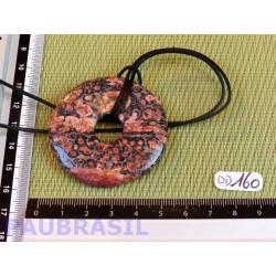Pi donut pendentif en Jaspe Leopard de 5cm