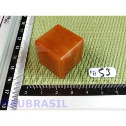 Cube poli en Aventurine orange - Peach aventurine 34gr 24mm