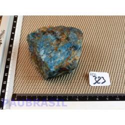 Apatite Bleue en pierre brute de Madagascar 177g