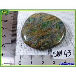 Smaragdite du Cap Corse en galet plat de 38gr