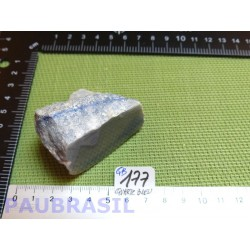 Quartz Bleu - Aventurine Bleue en Pierre brute une face polie 103g