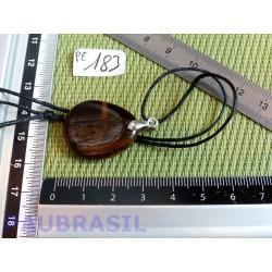 Pendentif Oeil de Fer mini pierre plate 8gr