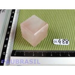 Cube poli en Quartz Rose Q Extra Brésil 34g 23mm