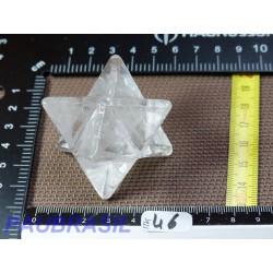 Merkaba en cristal de roche 60mm pointe à pointe 80gr
