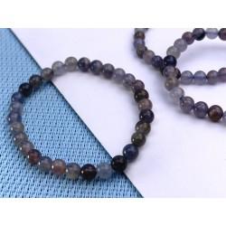 Bracelet Cordiérite-Iolite-Dichroïte Q Extra en perles de 6mm