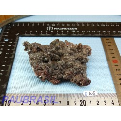 Calcite noire brute de 240gr du Mexique