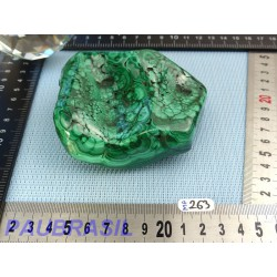 Morceau de Malachite semie polie 522gr Q Extra