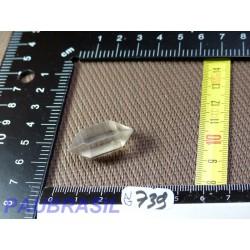 Pointe biterminée en quartz Q Extra  pour lithothérapie 7g