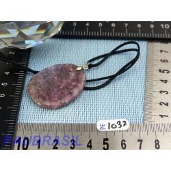 Pendentif Lépidolite mini pierre plate 14gr