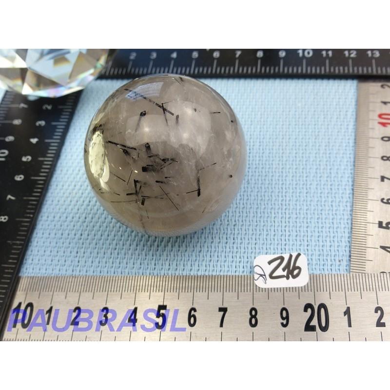 Sphère en Quartz Tourmaline Q Extra 228gr 55mm diam Brésil