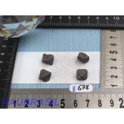 4 Magnétites octaédriques de 8g les 4