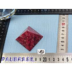 Pyramide en Thulite - Zoïsite rouge Q Extra 50mm base 114g
