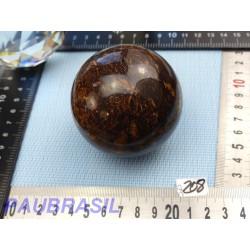 Sphère en Bronzite 494gr Bresil 65mm diamètre