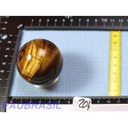 Sphère en Oeil de Tigre Q Extra 139gr 46mm diamètre
